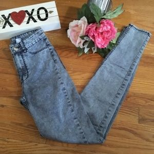 Divided high-waist skinny jeans size 2